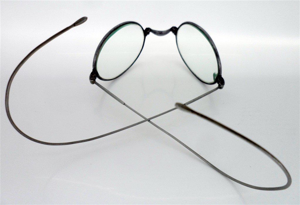 Unusual Rare Antique Vintage Folding Spectacles Glasses Steel Frames ...